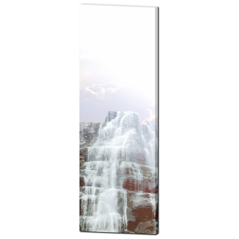 Panoramic Photo - 20 x 60 Canvas - Panoramic Canvas - Waterfall Canvas - Landscape Canvas - Gallery Wrapped Canvas - Purple Sky Photo - Sylvia Coomes