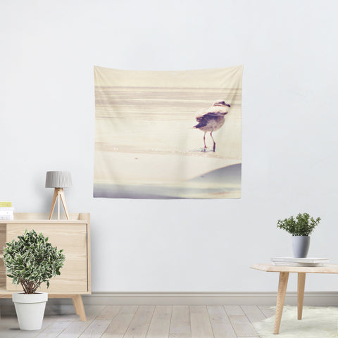 Bird at the Beach Tapestry