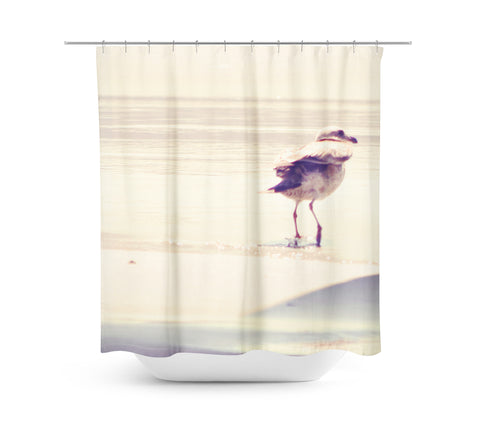 Bird at the Beach Shower Curtain - Sylvia Coomes