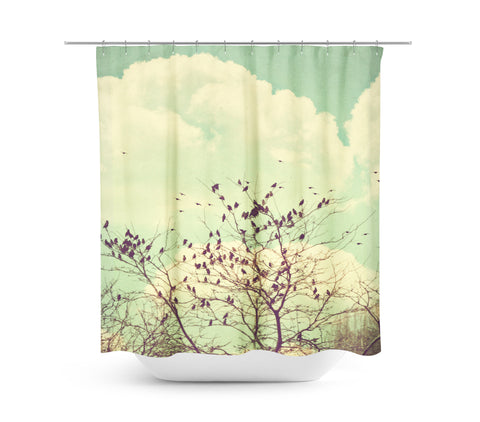 Birds of a Feather Shower Curtain - Sylvia Coomes