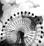 Black and White Ferris Wheel Shower Curtain - Sylvia Coomes