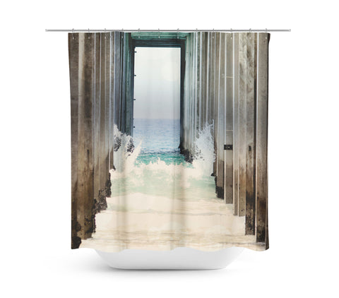 Boardwalk 2 Shower Curtain - Sylvia Coomes