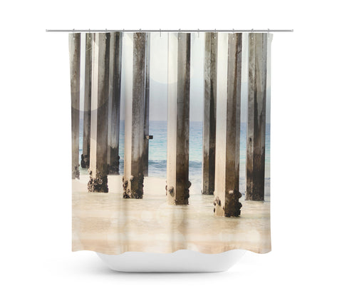 Boardwalk 4 Shower Curtain - Sylvia Coomes