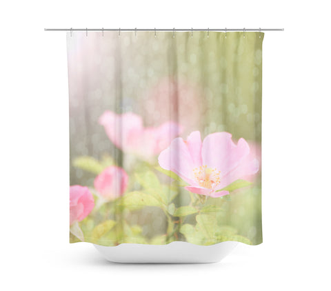 Bokeh Flowers 6 Shower Curtain - Sylvia Coomes