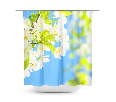 Bright Blooms Shower Curtain