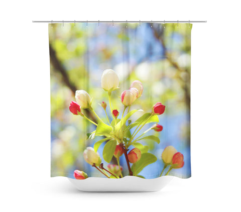 Bright Flowers 1 Shower Curtain - Sylvia Coomes