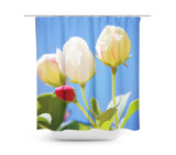 Bright Flowers 2 Shower Curtain - Sylvia Coomes