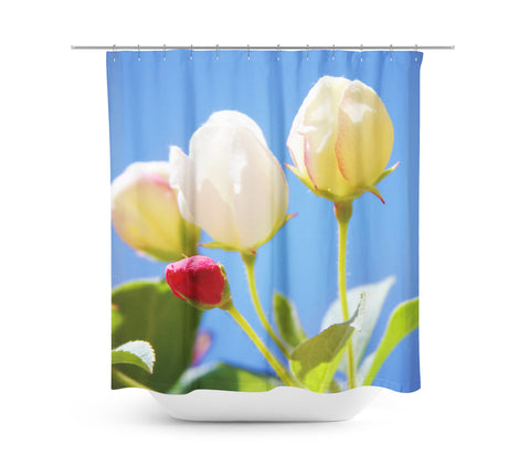 Bright Flowers 2 Shower Curtain