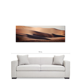 Mojave Desert Art - Sand Waves - Abstract Sand Dunes -Panoramic Canvas - Southwest Desert Art - Tan and Blue Decor - Large Canvas - 20 x 60 Canvas - Sylvia Coomes