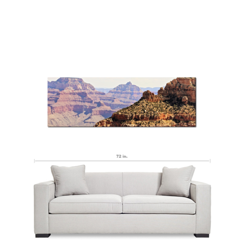Grand Canyon Panoramic 5 Fine Art Photography Panoramic 20 x 60 x 1.25 inch Premium Canvas Gallery Wrap - Sylvia Coomes