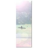 Aqua Blue Pink Print - Tall Canvas - Ocean Photo - Surfing Canvas - Large Ocean Photo - Ethereal Photograph - Large Canvas - 20 x 60 Canvas - Sylvia Coomes