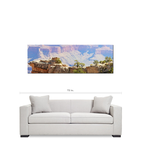 Grand Canyon Panoramic 3 Fine Art Photography Panoramic 20 x 60 x 1.25 inch Premium Canvas Gallery Wrap - Sylvia Coomes