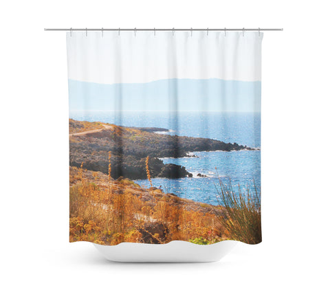 Coastline 3 Shower Curtain - Sylvia Coomes
