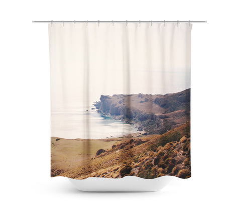 Crete Cove 1 Shower Curtain - Sylvia Coomes
