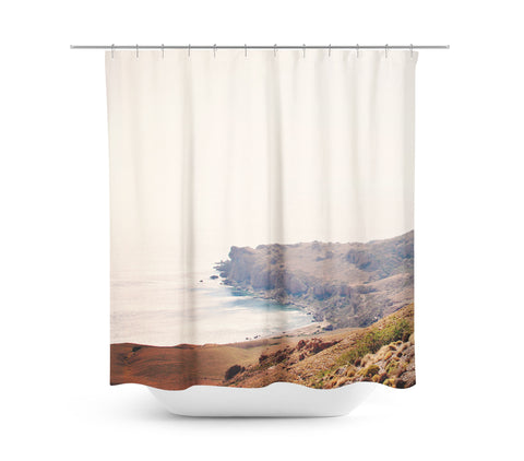 Crete Cove 2 Shower Curtain - Sylvia Coomes