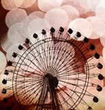 Crimson Ferris Wheel Shower Curtain - Sylvia Coomes