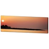 Sunset Canvas - Orange Panoramic - Beach Home Decor - Nautical Canvas - Panoramic Canvas - Large Canvas - Mediterranean Sea - 20 x 60 Canvas - Sylvia Coomes
