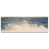 Large Ocean Canvas - Blue and White Canvas - Crashing Waves Canvas - 20 x 60 Canvas - Panoramic Canvas - Nautical Canvas - Photo Canvas - Sylvia Coomes