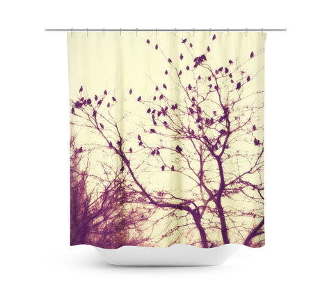 Darkness into the Light Shower Curtain - Sylvia Coomes