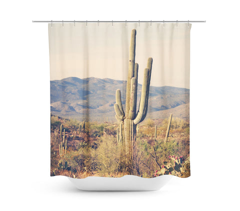Desert Landscape 3 Shower Curtain - Sylvia Coomes