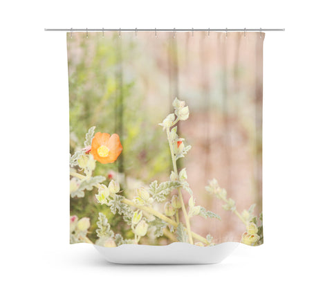 Desert Wild Flowers 4 Shower Curtain - Sylvia Coomes