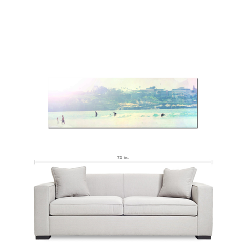 Surfer Art - Surfing - Pastel Color - Rainbow Colors - Tall Canvas - California Canvas - Beach Canvas - Large Canvas - 20 x 60 Canvas - Sylvia Coomes