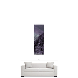 Gothic Canvas - Purple Home Decor - Black and Purple - Purple Trees Canvas - Large Canvas - 20 x 60 Canvas - Tall Canvas - Home decor - Sylvia Coomes