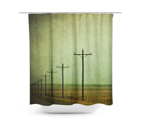 Electric Shower Curtain - Sylvia Coomes