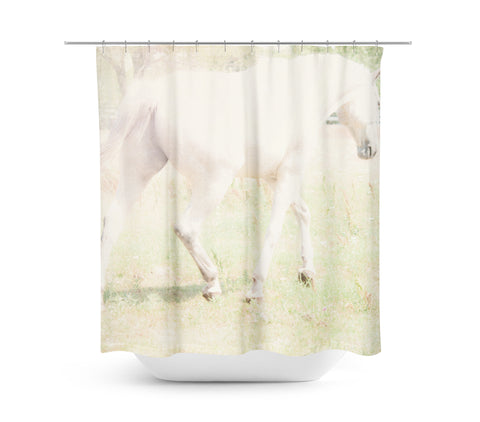 Ethereal Horse Shower Curtain - Sylvia Coomes