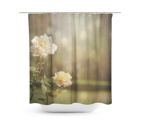 Ethereal Rose Shower Curtain - Sylvia Coomes