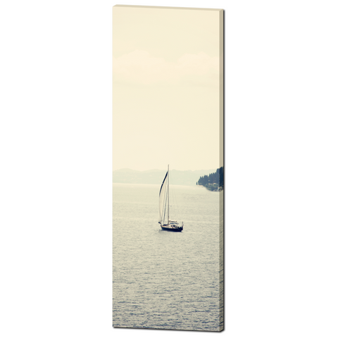 Nautical Wall Decor - 20 x 60 Canvas - Panoramic Canvas - Gallery Wrapped Canvas - Sailboat Art - Minimalist Canvas Print - Photograph