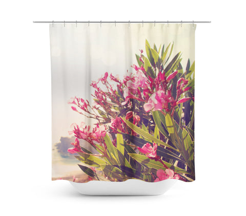 Flowers in Paradise 2 Shower Curtain - Sylvia Coomes