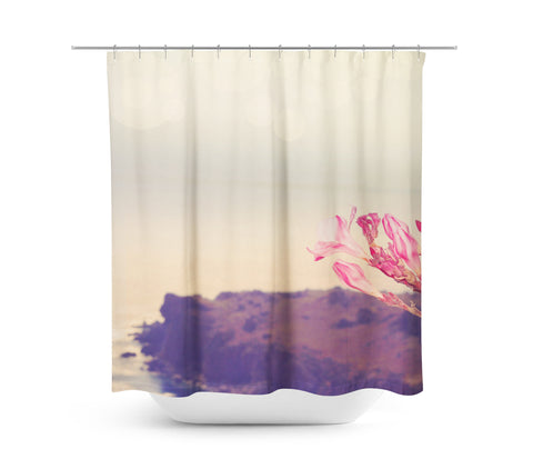 Flowers in Paradise 3 Shower Curtain - Sylvia Coomes