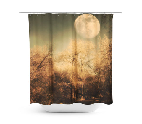 Full Moon Shower Curtain - Sylvia Coomes