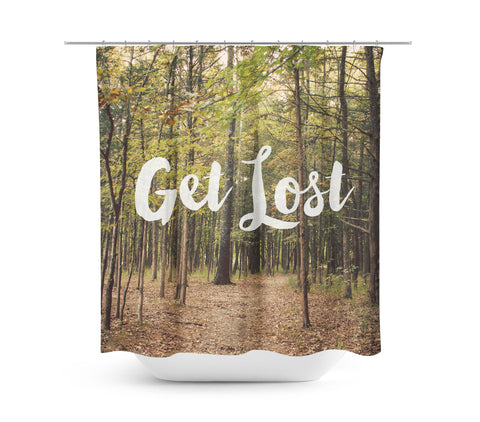 Get Lost Shower Curtain - Sylvia Coomes