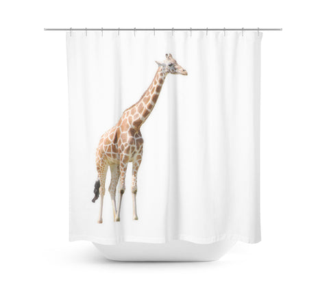 Giraffe Shower Curtain - Sylvia Coomes