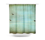 Gothic Birds on a Wire Shower Curtain - Sylvia Coomes