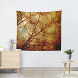 Gothic Red Trees Tapestry - Sylvia Coomes