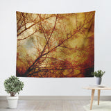 Gothic Red Trees Tapestry