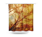 Gothic Red Trees Shower Curtain - Sylvia Coomes