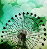 Green Blue Ferris Wheel Shower Curtain - Sylvia Coomes