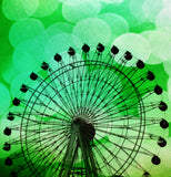 Green Ferris Wheel Shower Curtain - Sylvia Coomes