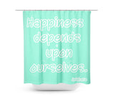 Happiness Mint Shower Curtain - Sylvia Coomes