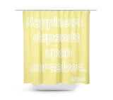 Happiness Yellow Shower Curtain - Sylvia Coomes