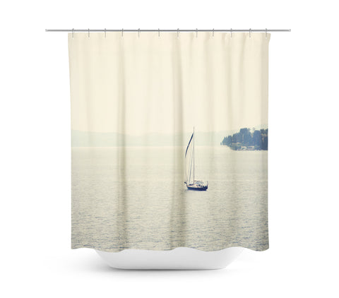 Hazy Sea Shower Curtain - Sylvia Coomes
