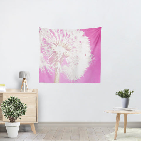 Hot Pink Dandelion Tapestry - Sylvia Coomes