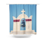 In Santorini 1 Shower Curtain - Sylvia Coomes