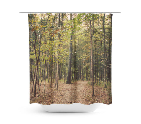 In the Woods 1 Shower Curtain - Sylvia Coomes
