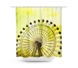 Lemon Yellow Ferris Wheel Shower Curtain - Sylvia Coomes