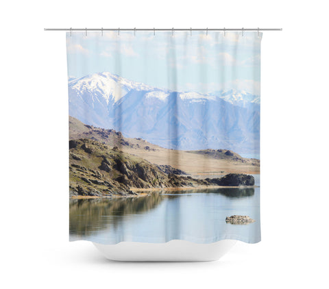 Mountain Dream Shower Curtain - Sylvia Coomes